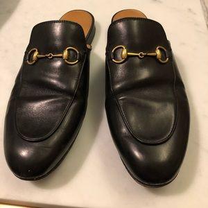 Gucci Princetown Black Leather Slipper